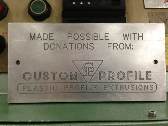 Custom Profile Donates Puller/Cutter to Ferris State University's Plastics Program
