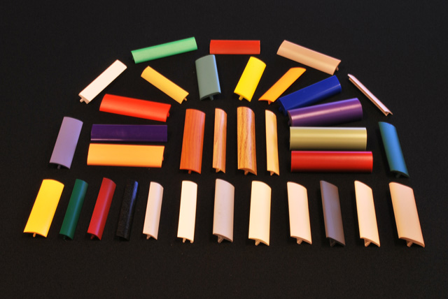 Custom plastic T-Molding in various sizes, shapes and colors